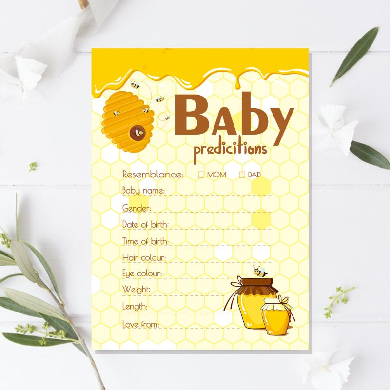 10 Pack Advice And Prediction Cards For Baby Shower Game Parent Message Advice