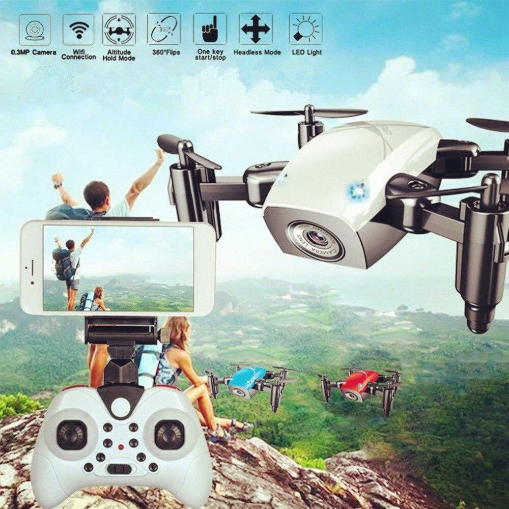 S9HW Mini Drone RC con cámara HD 0.3MP plegable RC Quadcopter de altitud mantener helicóptero WiFi FPV avión sin cabeza