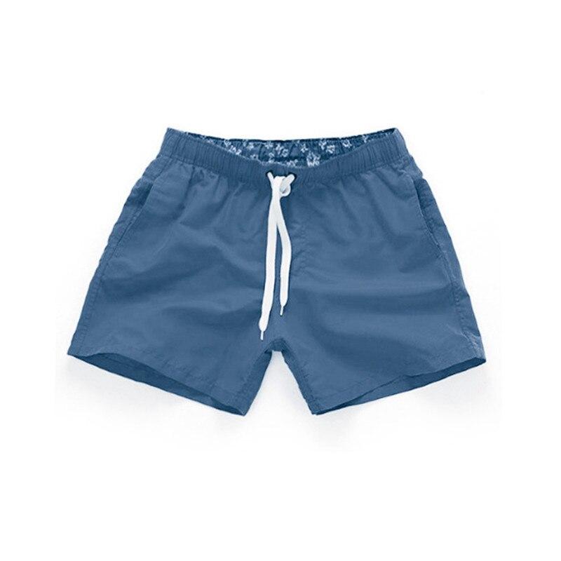 Boardshorts Shorts Men Breathable Summer Quick Dry Thigh Length S-XXXL Plus Size Shorts Male Solid Drawstring Beach Shorts Men
