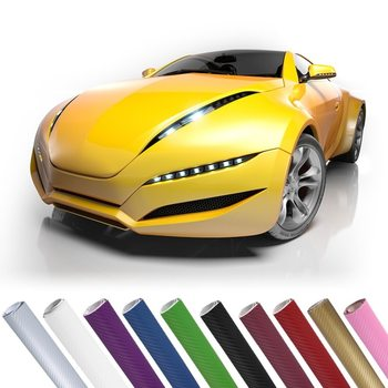 Car-styling 3D Carbon Fiber Vinyl Wrap Film Motorcycle Car Vehicle Stickers And Decals Sheet Roll Car Accessories image
