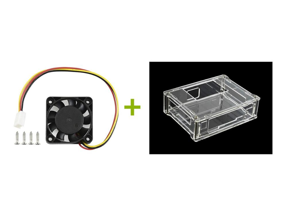 Acrylic Clear Case With Dedicated Cooling Fan For  Jetson Nano Developer Kit