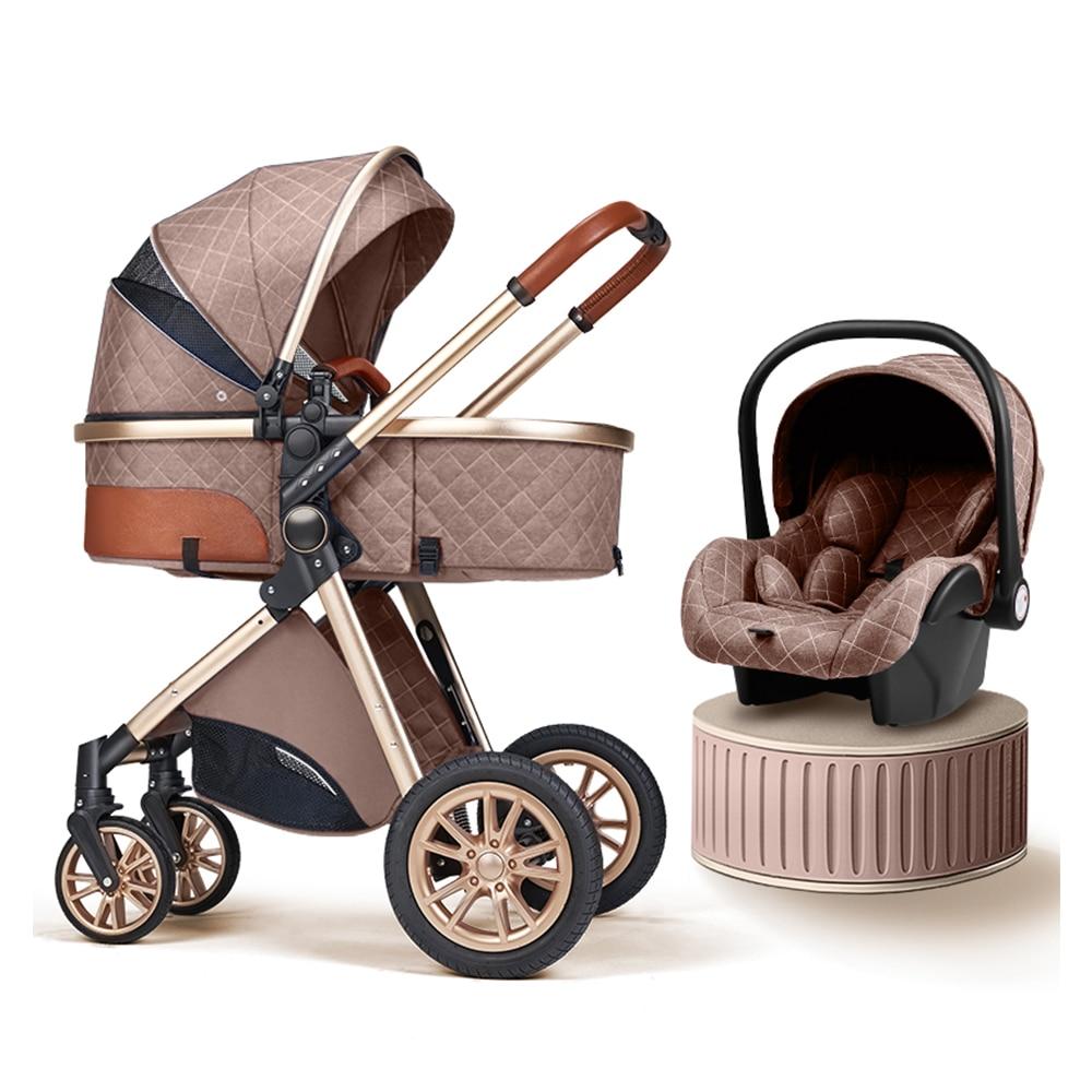 2021 חדש תינוק עגלת גבוהה נוף תינוק עגלת יכול לשבת יכול שקר עריסה נייד Pushchair תינוקות Carrier משלוח חינם