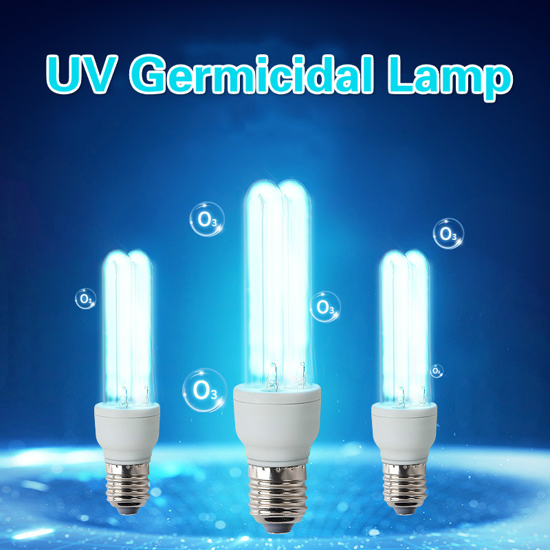 UVC Sterilization <font><b>Bulb</b></font> <font><b>E27</b></font> <font><b>UV</b></font> Quartz Lamp 20W 36W Desinfection <font><b>Bulb</b></font> 110V 220V <font><b>UV</b></font> Bactericidal Sterilization Lamp Tube With Base image