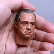 Новая версия 1/6 масштаб Крестный отец головка Скульптура Марлон