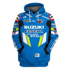 Motorcycle mens hoodie moto riding hoody clothing men cross Zip Windproof jersey coat Sweatshirt For SUZUKI Racing Jackets Blue все цены