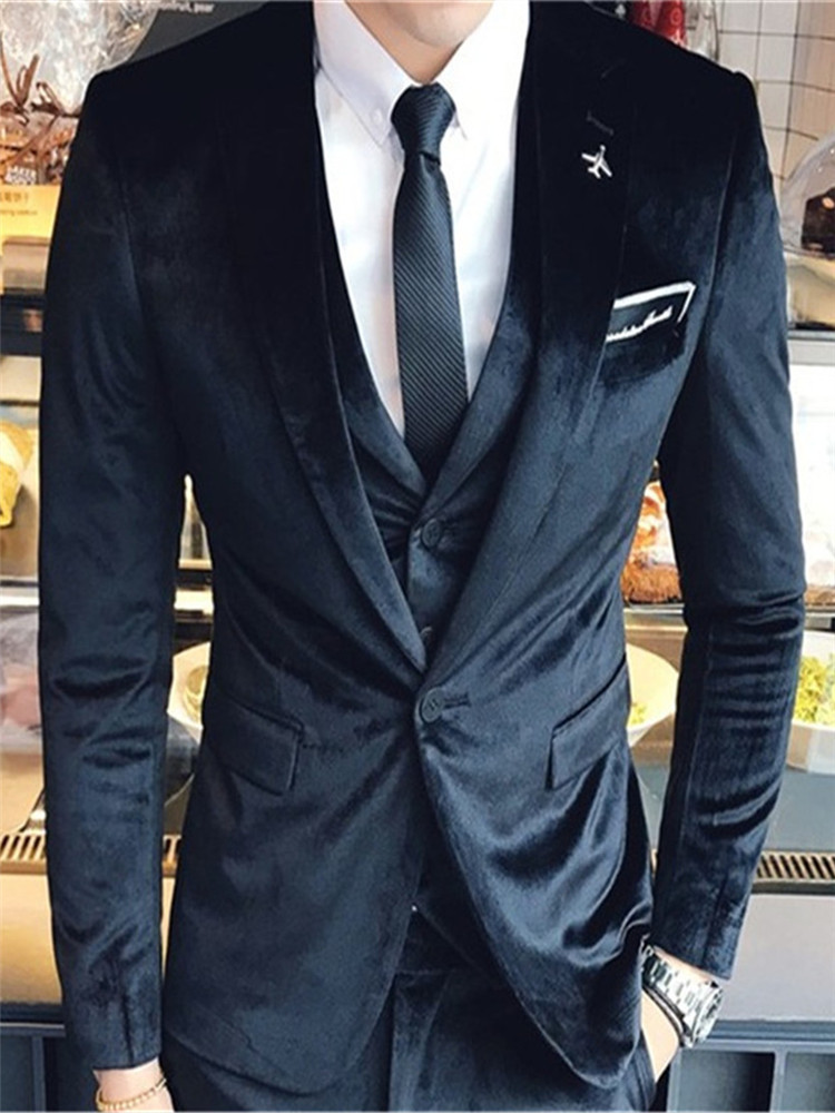 New Classic Men's Suit Smolking Noivo Terno Slim Fit Easculino Evening Suits For Men Tuxedo Designs Elegant Wedding Formal Groom