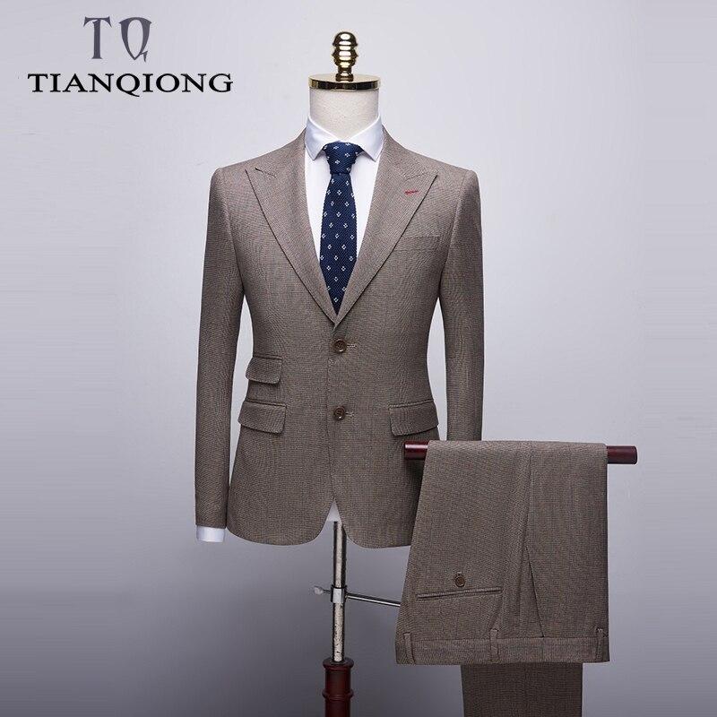 Men's Boutique Suit Men 2019 Slim Fit Men Suits For Wedding Autumn Classic Formal Suits Brand Latest Blazers Coat Pant Designs