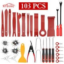 Kit de herramientas de extracción de embellecedor de coche, instalador de extracción de Radio de Audio de tablero automático, Kit de herramientas de palanca de bloqueo, 103 Uds.