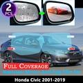 Противотуманная пленка с полным покрытием для Honda Civic 7 8 9 10 EU FB FK FA FD 2001 ~ 2019, специальное зеркало заднего вида, непромокаемые противотуманные ...