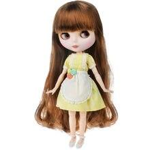 Кукла blyth с матовым лицом и матовой белой кожей шарнирная