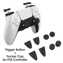 8 en 1 pouce bâton poignée clés capuchons manette couverture Silicone L2 R2 déclencheur bouton Extender pour PS5 jeu contrôleur accessoires