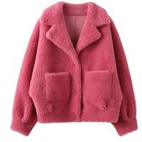 Large size Real Fur Coat Sheep Shearing Long Winter Coat Women Clothes 2019 Wool Jacket Real Fur Abrigos Mujer C916 1