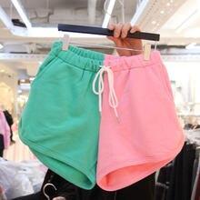 Verano coreano Casual De algodón con Pantalones Cortos De pierna ancha mujeres cintura elástica Pantalones Cortos De ropa De Mujer salvaje