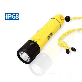 IP68 rating magnetic control q5 1000 lumen rechargeable waterproof led diving flashlight with high quality