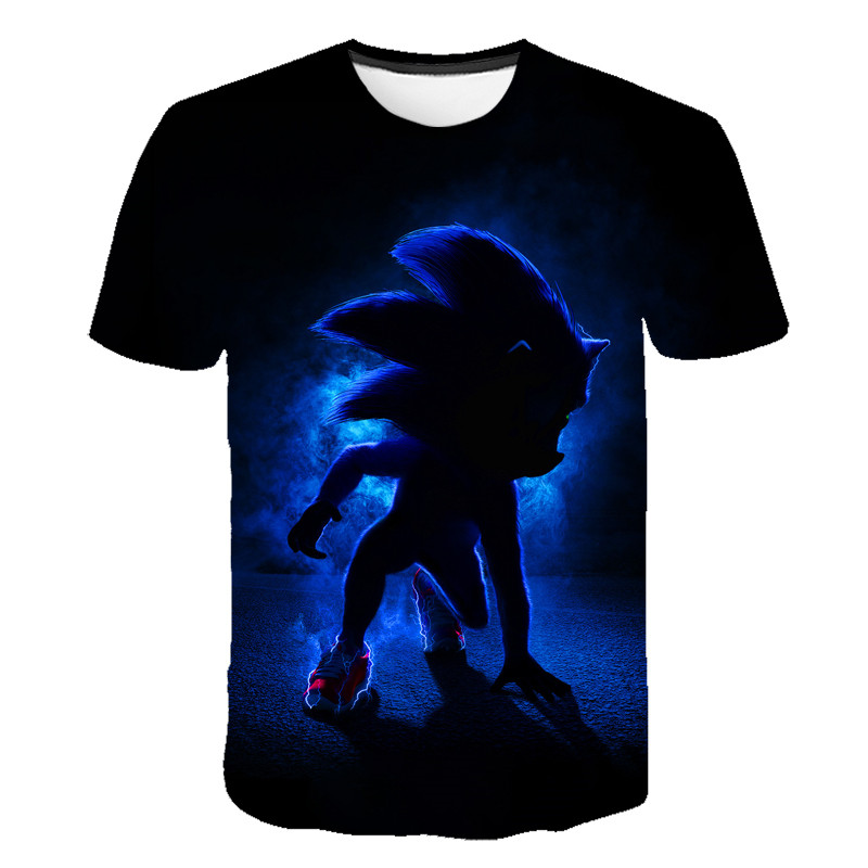 Sonic The Hedgehog Children Summer T Shirt Dabbing Funny Cartoon Short Sleeve T-Shirts For Boys Girls Tops Kids Tshirt 4T-14T