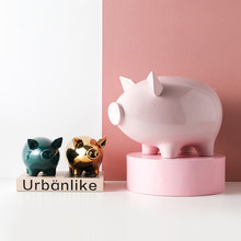nordic ceramics pig Piggy bank High capacity decorations for girls Room ornaments souvenirs Craftwork Coins are not desirable