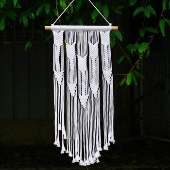 Tapestry ขนาดใหญ่ Dreamcatcher สีขาวงานแต่งงานตกแต่ง macrame แขวนผนังตกแต่งห้องพักเด็กตกแต่งบ้านของขวัญผู้ห...