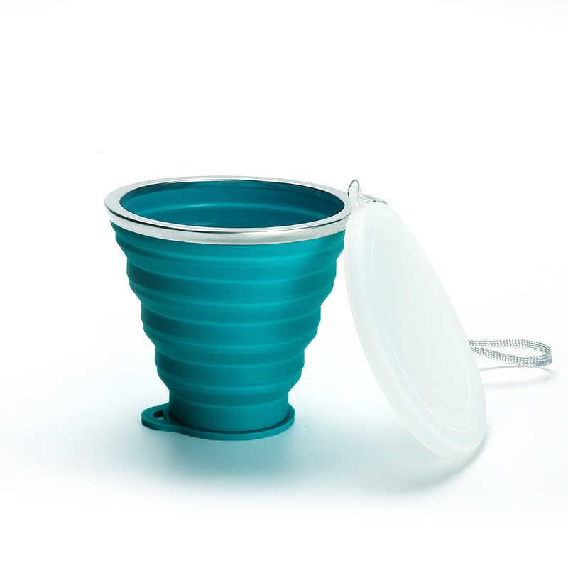 1 Pcs Hot Koop Siliconen Thee Folding Cups, Intrekbare Drinkbekers, Draagbare Telescopische Gereedschap, vouwen Reizen Cups 180-350ML