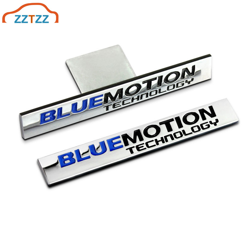 1Pcs 3D Metal Blue Motion Car Side Fender Rear Trunk Emblem Badge <font><b>Sticker</b></font> Decals for Universal Cars Moto <font><b>Bike</b></font> Decorative image
