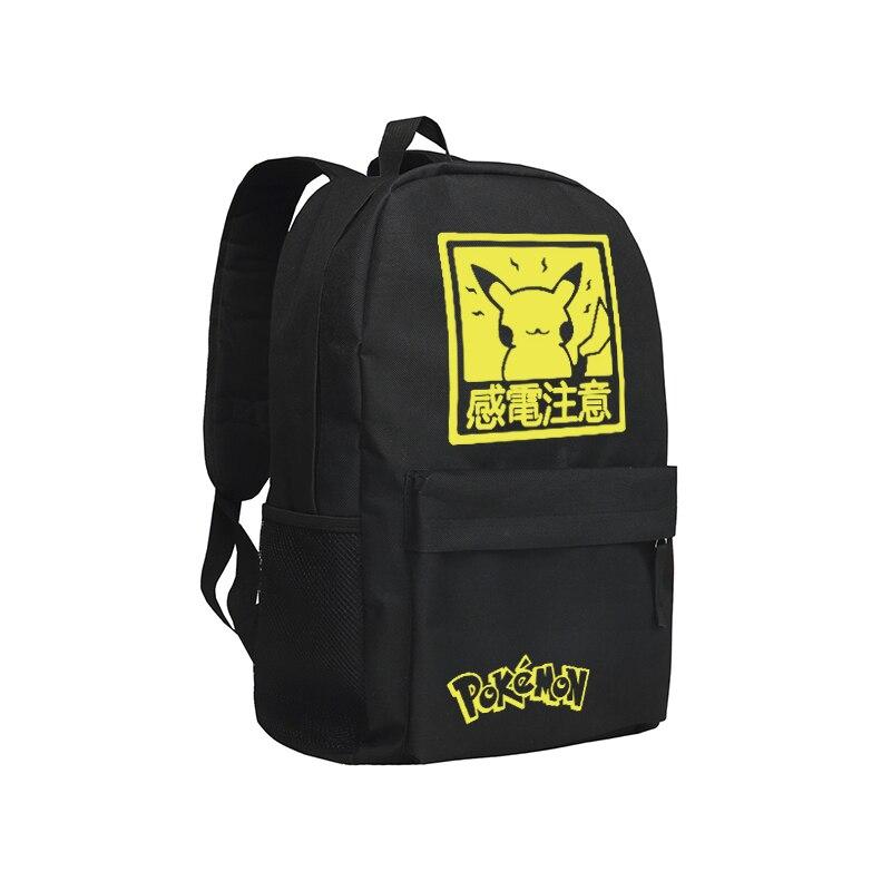 Zshop Pikachu sac à dos pour garçons filles en couleur noire sac à bandoulière