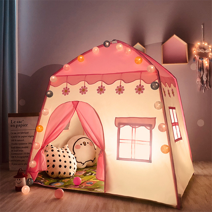 Multi-Color Children Tent Girls Pink Toy Storage House Boys Game House Portable Tent For Parent-Child Game Indoor Tent for Kids
