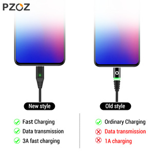Image 2 - PZOZ Magnetic Cable Fast Charging Micro usb cable Type c Magnet Charger usb c Microusb Wire For iphone 12 11 pro xs max Xr x 7 8