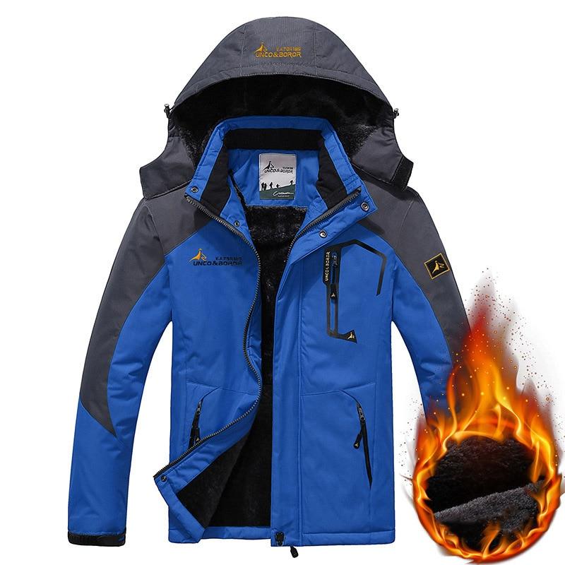 TWTOPSE Men Cycling Fishing Windproof Hiking Camping Fleece Outdoor Coat Winter Waterproof Sport Snowboarding Skiing Jacket Warm