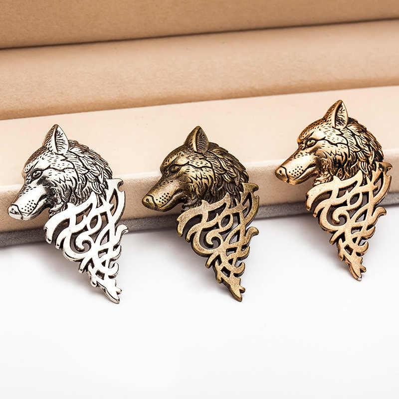Fashion Pria Jas Memimpin Pin Gesper Serigala Bros Menghias Pin Pria Perhiasan Pria Pakaian & Aksesoris Hadiah Natal