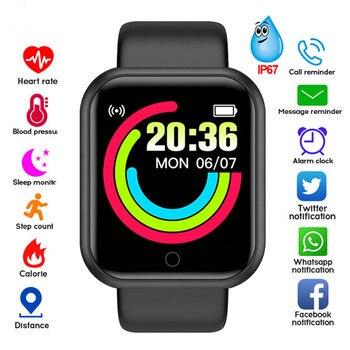 Sport Smart Watch Men Women 1.44 Inch Bluetooth-compatible Wristband Fitness Tracker Heart Rate Monitor reloj hombre inteligente 1