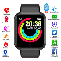 Sport Smart Watch uomo donna 1.44 pollici braccialetto compatibile Bluetooth Fitness Tracker cardiofrequenzimetro reloj hombre inteligente