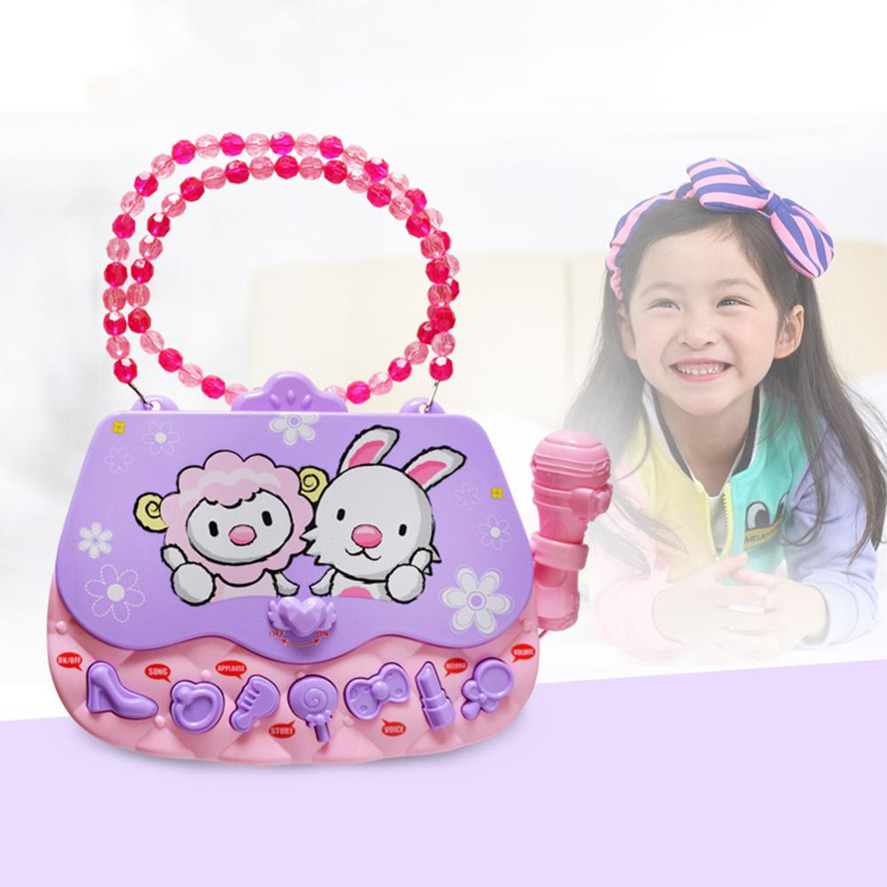GloryStar Children's Educational Music Bag Early Education Toy With Microphone Girl Bag Music Toys  30