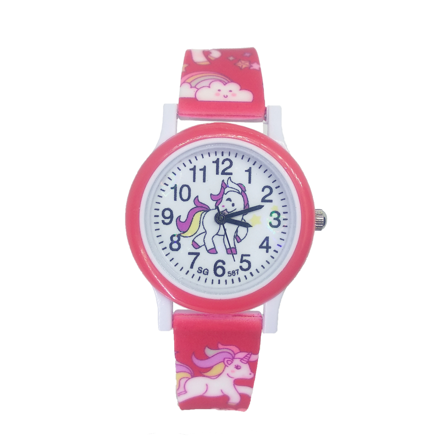2019 Hot Selling Pony Watch Children Fashion 3D Unicorn Watch Girl Boy Child Clock Student Sport Kids Watches Baby Birthday Gift