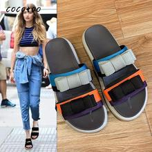 2020 New Slippers Women Spring And Summer Wear Fashion Sandals Wild Seaside Non-slip Color-flip Flops Thick-soled Beach Shoes the new fashion woman handmade h slippers summer flip flops students beach shoes non slip soft soled indoor sandals