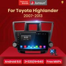Мультимедийная система Junsun V1 для Toyota, стерео-проигрыватель на Android 10, 2 Гб ОЗУ, 32 Гб ПЗУ, с GPS и RDS Навигатором, видеоплеером, для Toyota Highlander 2007-2013, ...