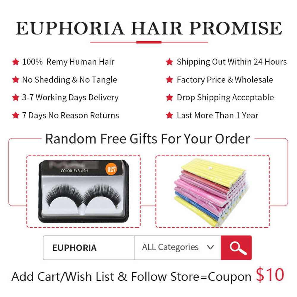 Body Wave Lace Frontal With Human Hair 3 Bundles EUPHORIA 99J/Burgundy Red Color Brazilian Remy Bundle Hair With Closure 13x4