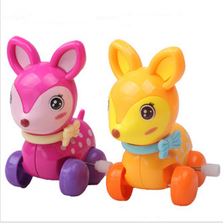 Cross Border Winding Wind-up Toy Tightening Deer Sika Deer Stall Hot Selling Creative Winding Toy Nostalgic Toy Batch