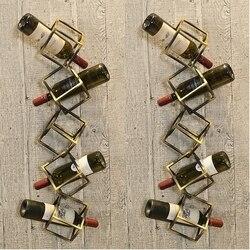 Creativo Cremagliera del Vino Rosso del Metallo Creativo Cremagliera del Vino di Uve Upside-down di Alta-footed Cremagliera di Vetro Per Il Vino Rosso CF