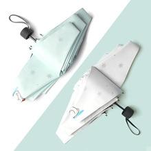 Sunny Rainy Umbrella Pocket Mini Umbrellas Anti UV Sun Folding Portable Women Girl Light And Handy Snowflake Bear