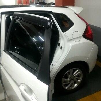 4PCS/SET Window Visor Vent Shades Sun Rain Deflector Guard Auto Accessories Fit For Honda Jazz Fit 2014 2015 2016 2017 2018