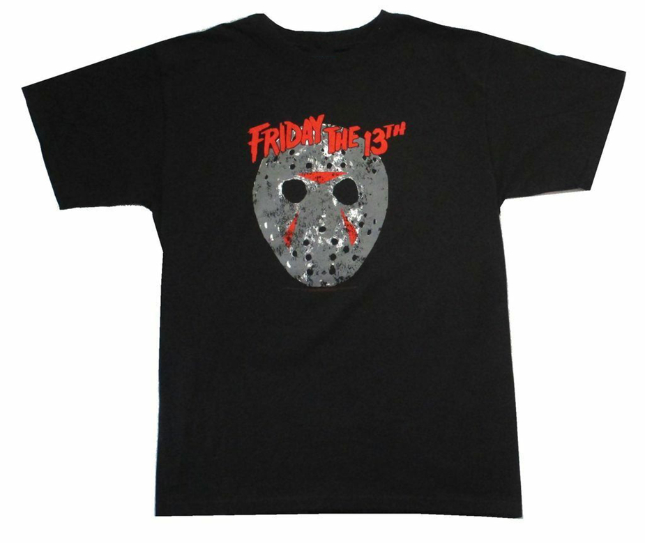 Friday The 13Th Classic Mask Jason Black T Shirt New Horror Slasher Movie New Funny Tee Shirt image