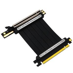 Image 1 - Pcie 3.0 × 16 pci expressライザー延長ケーブル柔軟な高速90度gup用led付グラフィックスカード