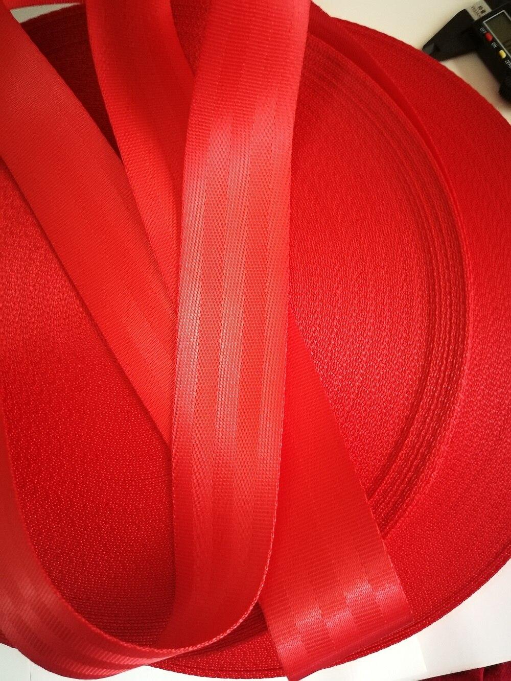 Rouge 3 M-30 M voiture ceinture de sécurité sangle voiture modifiée 3C standard certifié enfants ceinture de sécurité accessoires de voiture