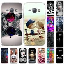 Krzemu skrzynka dla Samsung J1 przypadki fajny wzór pokrywa na Samsung galaxy J1 2016 J120 SamsungJ1 Mini Prime miękkie malowane telefon Funda tanie tanio Bolomboy CN (pochodzenie) Częściowo przysłonięte etui Silicon Painted Case For Samsung Galaxy J1 2016 J120 J1 Mini Prime