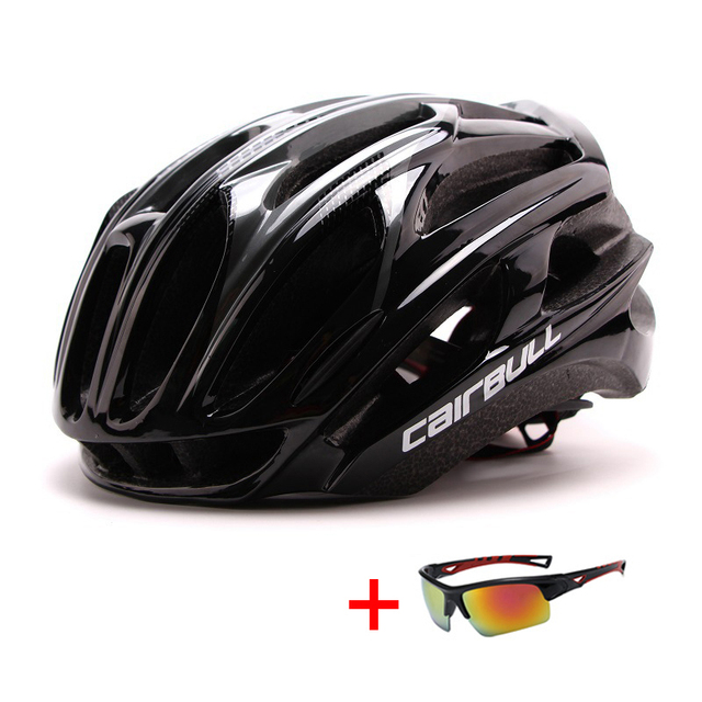 In-mold mountain bike estrada capacete da bicicleta com óculos de sol unisex esportes equitação ciclismo capacete ultraleve xc mtb bicicleta capacete 3