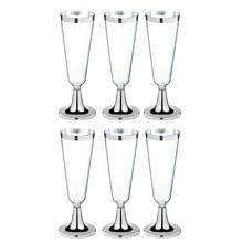 6 шт одноразовые пластиковые бокалы для шампанского стаканы красного вина Коктейльные Вечерние свадебные чашки для напитков Рождественская Западная кухня чашки S