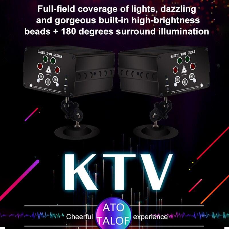 Image 2 - Atotalof RGB LED Disco Light Laser 128 Patterns Projector Remote Control In door Party Lighting KTV Wedding Stage Laser Lights