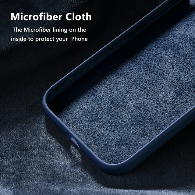 Official Original Silicone Case For iPhone 11 12 Pro MAX SE 2020 XR X 6 6s 7 8 Plus Cases For iPhone 12 mini XS Full Cover etui 3