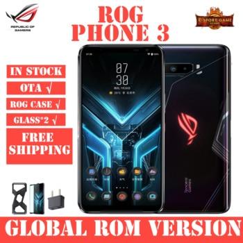 Купить ASUS ROG Phone 3 глобальной Встроенная память игровой телефон 12/16GB Оперативная память 128/256/512 ГБ Встроенная память OTA Update Snapdragon865Plus 6000 мАч для смартф...