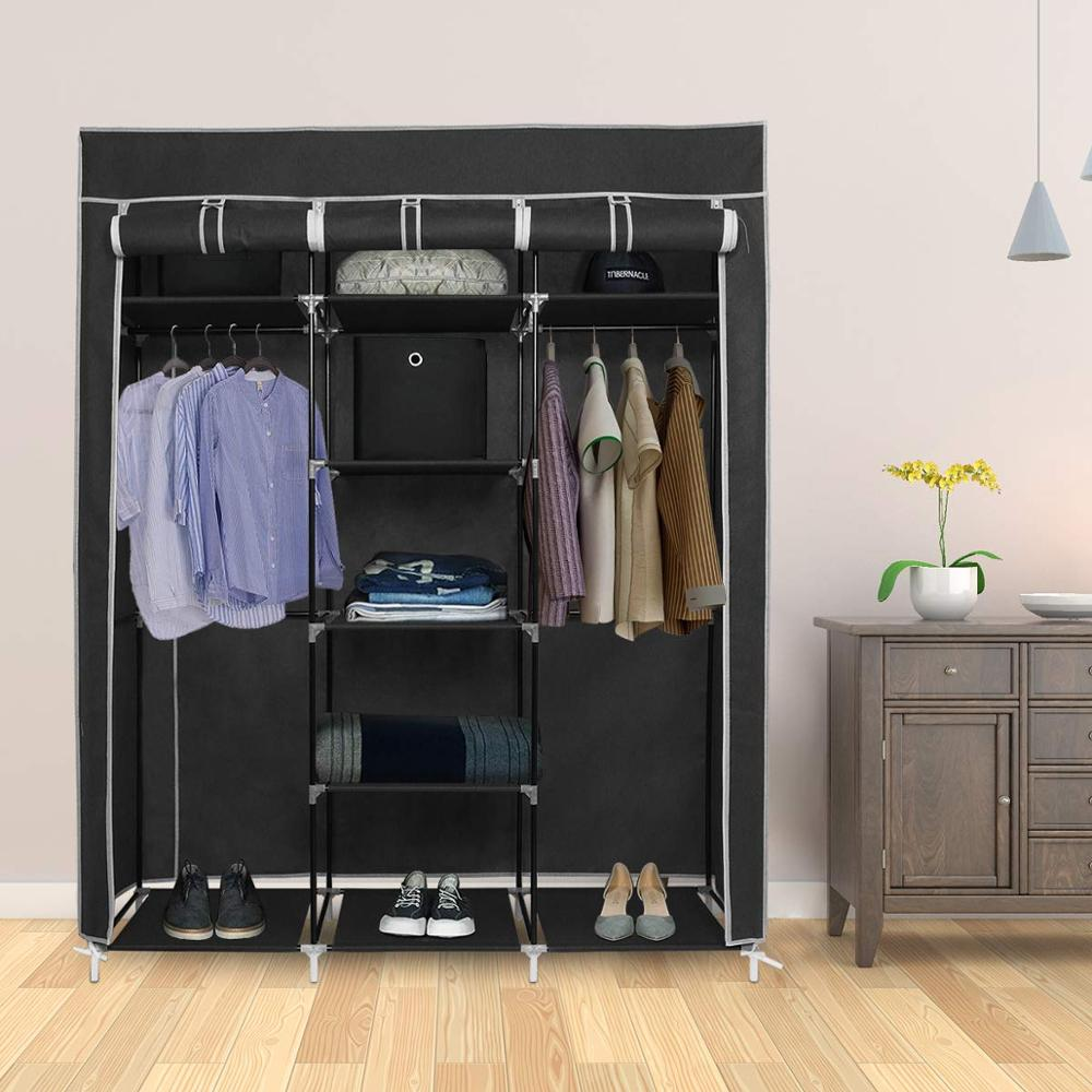Non-woven Cloth Wardrobe DIY Portable Storage Closet Folding Dustproof Clothing Storage Cabine Closet Cabinet Bedroom Furniture