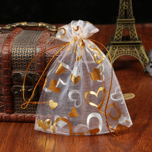 Wholesale 500Pcs 17x23cm Drawstring Organza Bags White&Colorful Jewelry Packaging Bags Wedding Gift Bags Jewelry Pouches